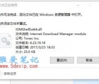 删除绿色版IDM里面的IDMShellExt64.dll文件